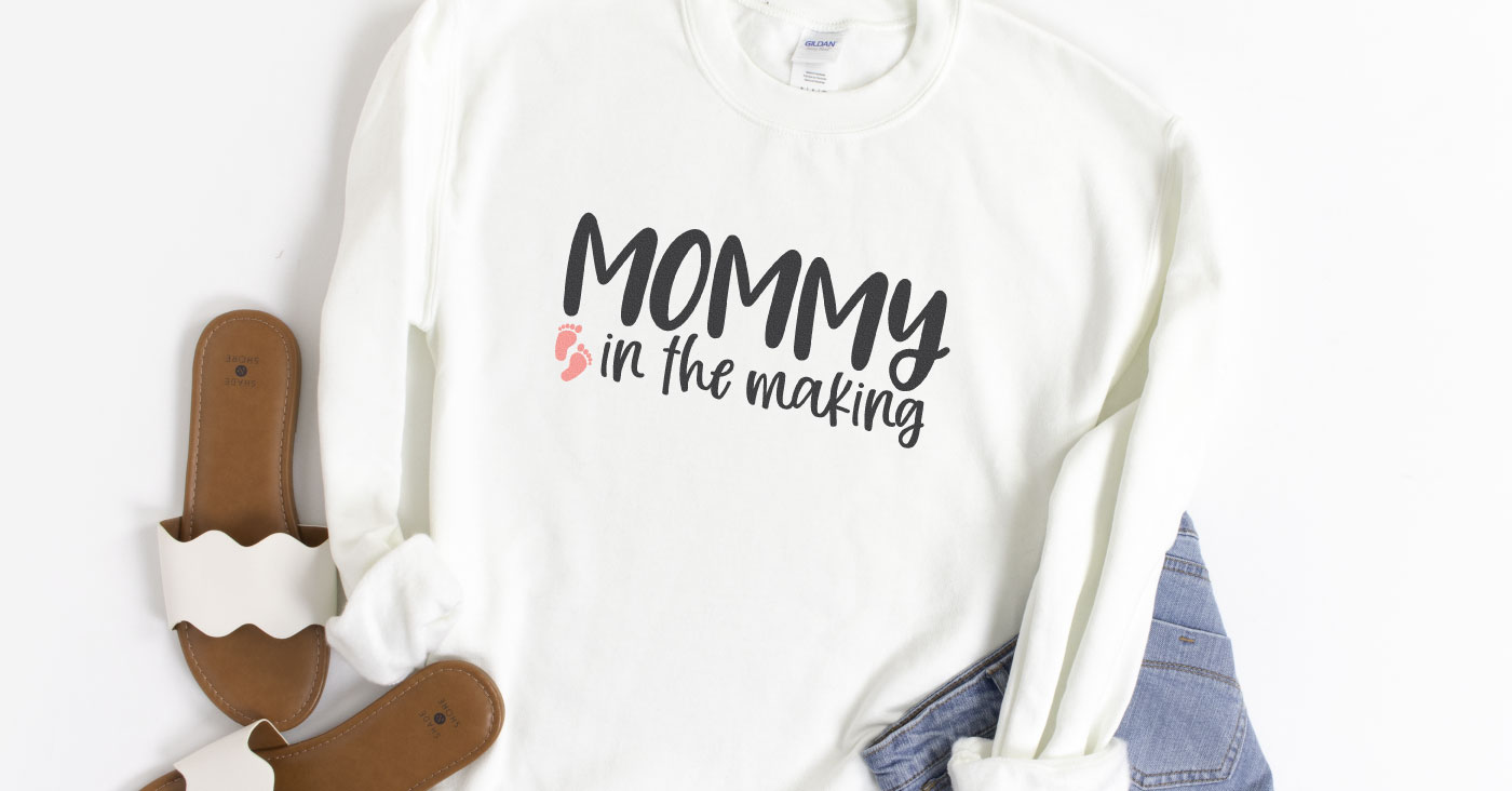 Mommy in the Making SVG + Free Pregnancy Cut Files
