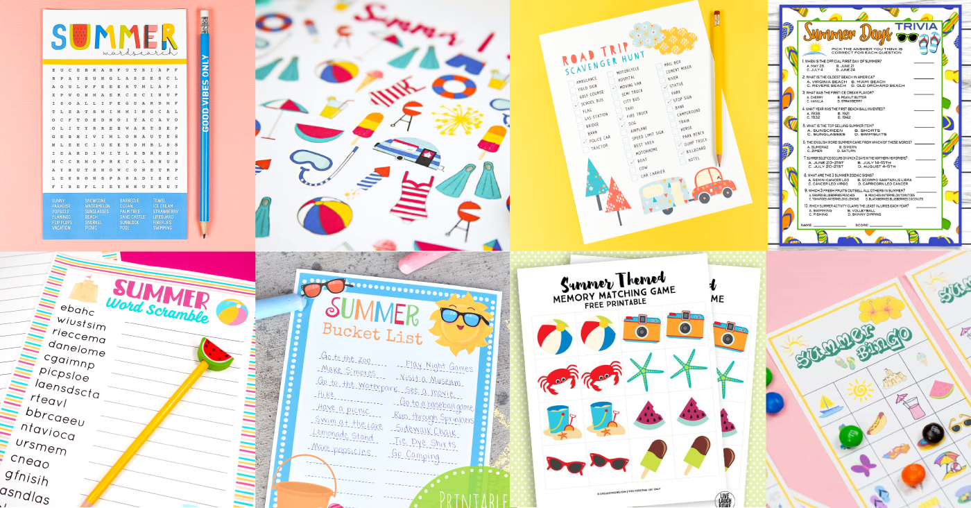 20 Fun Printable Summer Games for Boredom Busting!