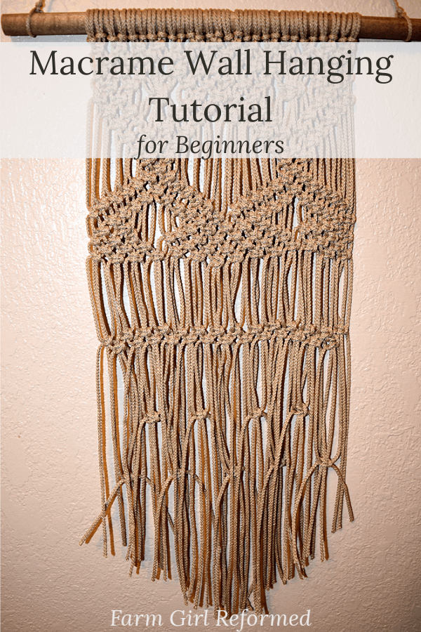 Macrame Wall Hanging Tutorial for Beginners