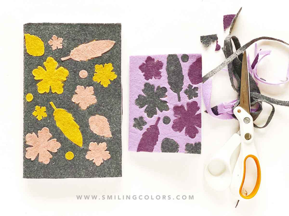 Die cutting felt Tutorial: Felt floral cover book