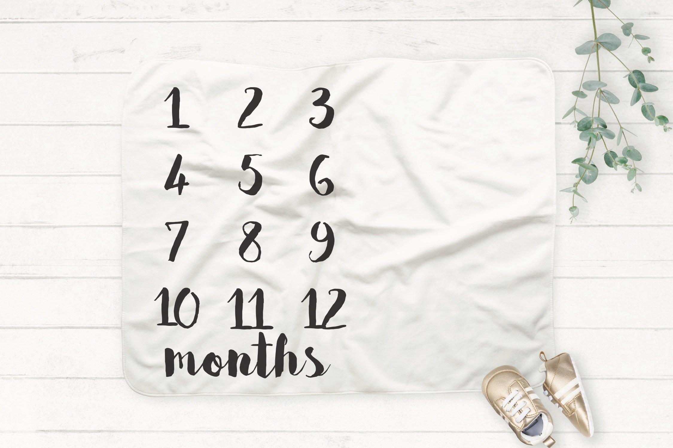 Milestone Baby Blanket SVG File