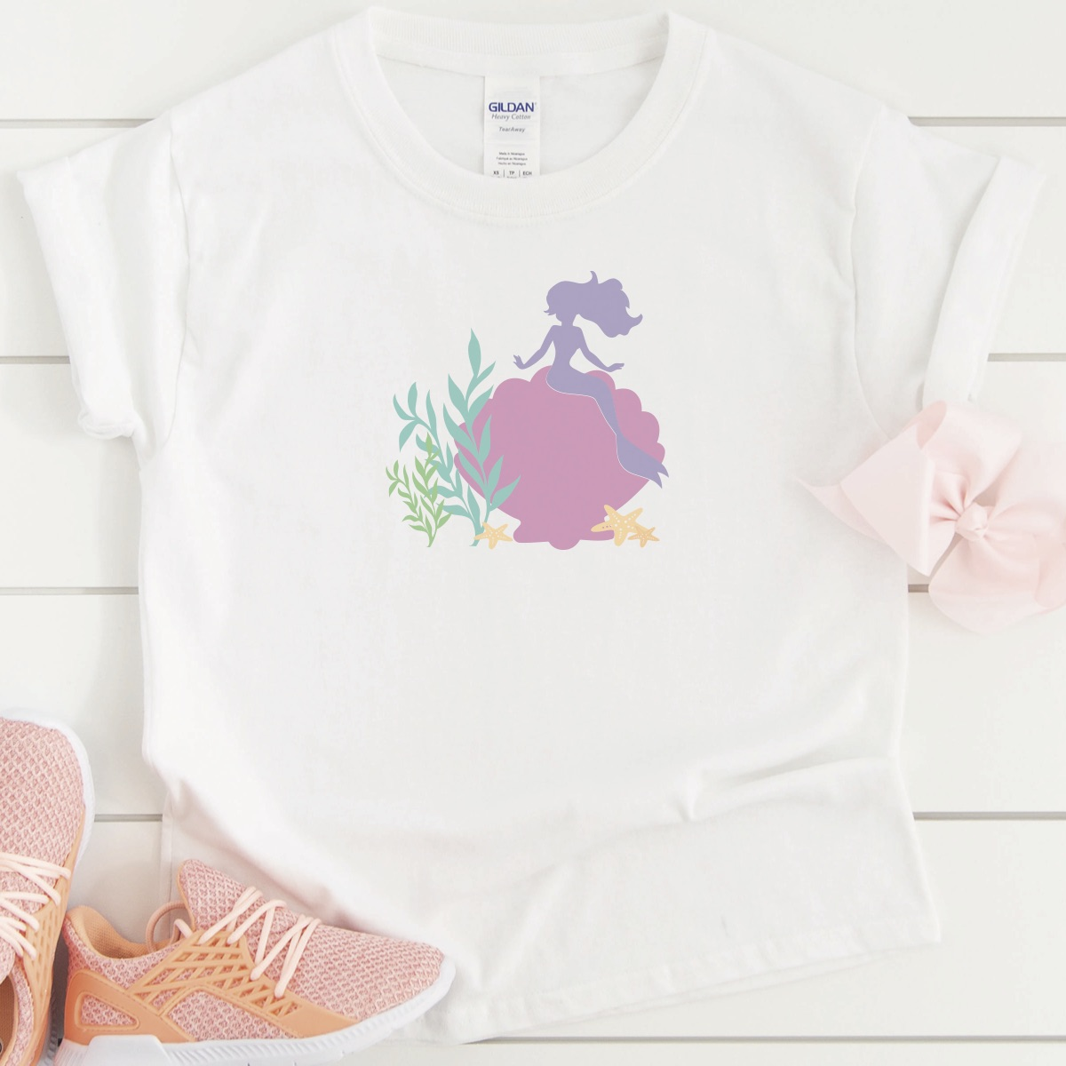 Simple Mermaid Shirt DIY