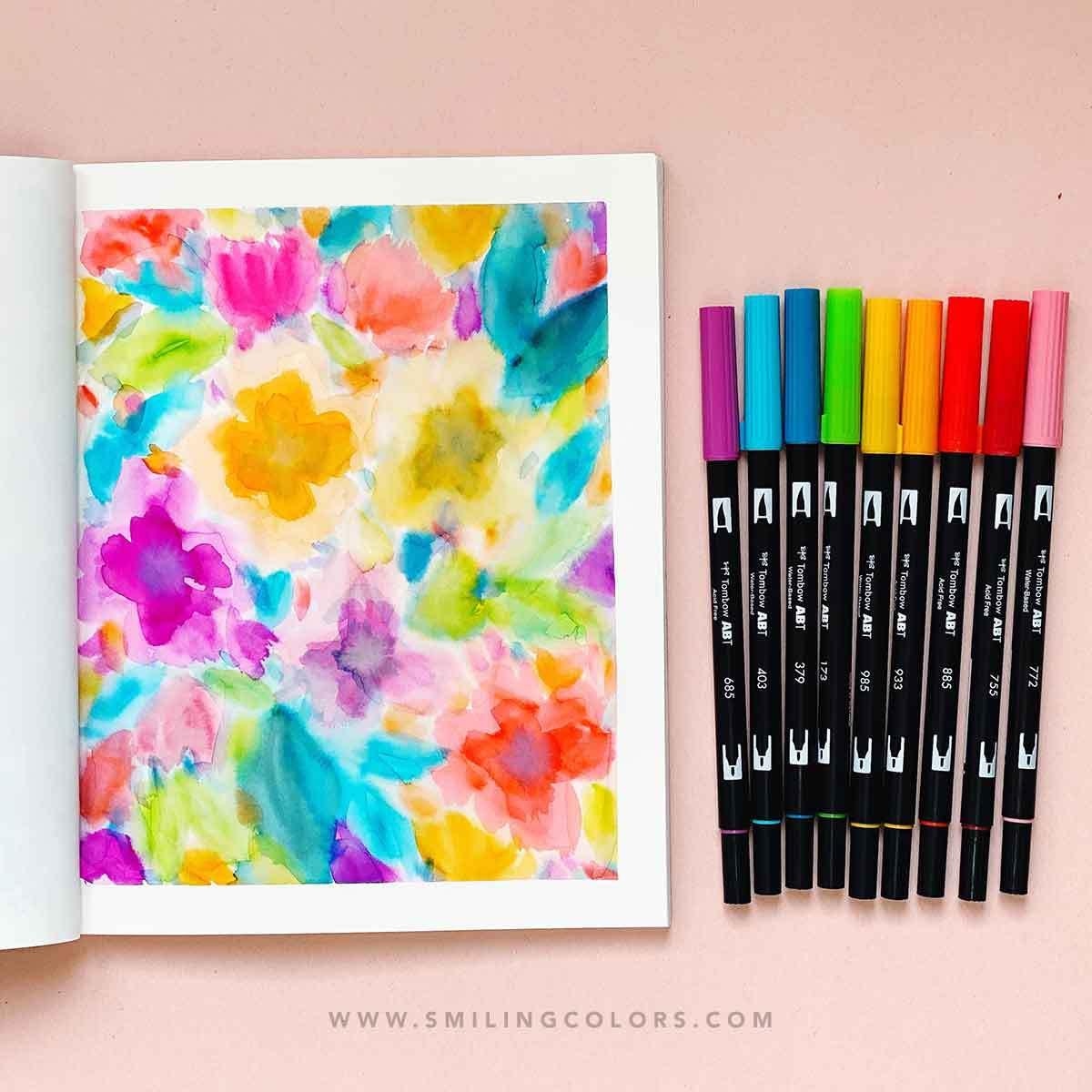Messy floral painting: Video