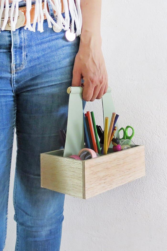 DIY Desk Organizer Caddy
