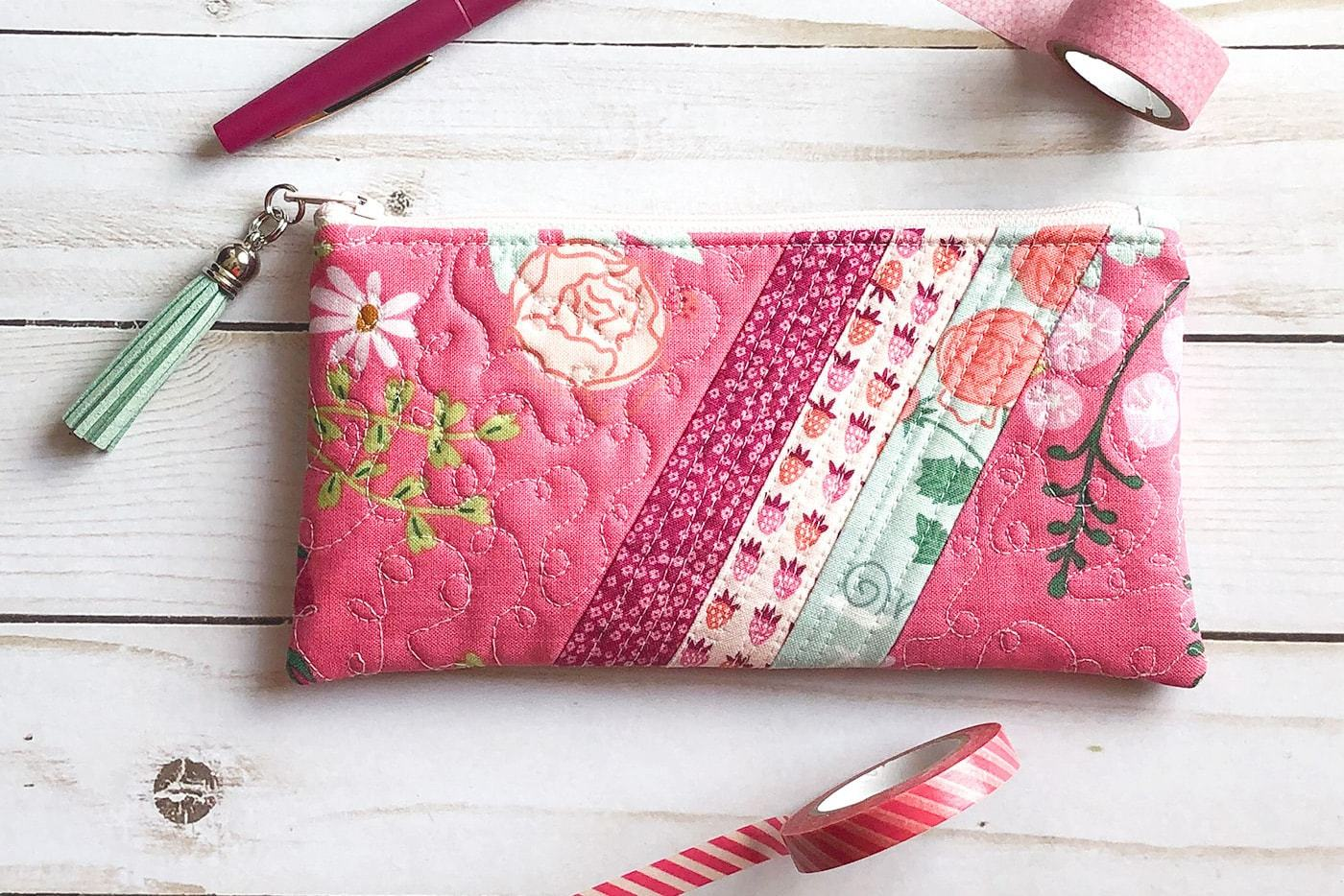 Striped Pencil Pouch Sewing Pattern
