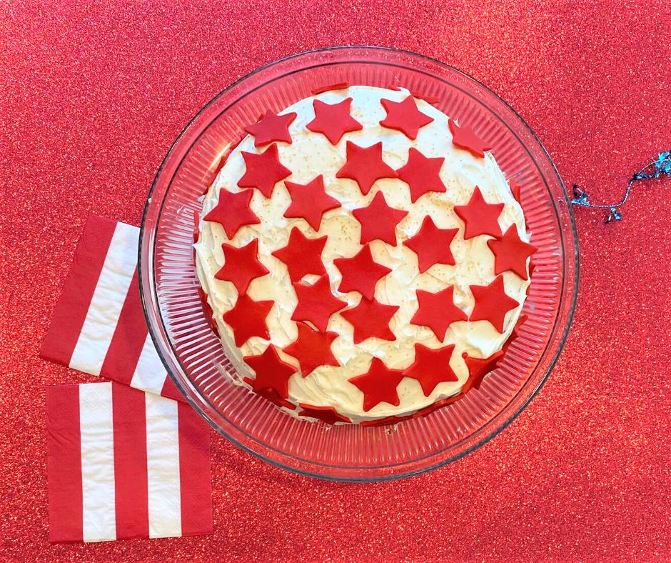 Red & White Stars Cake