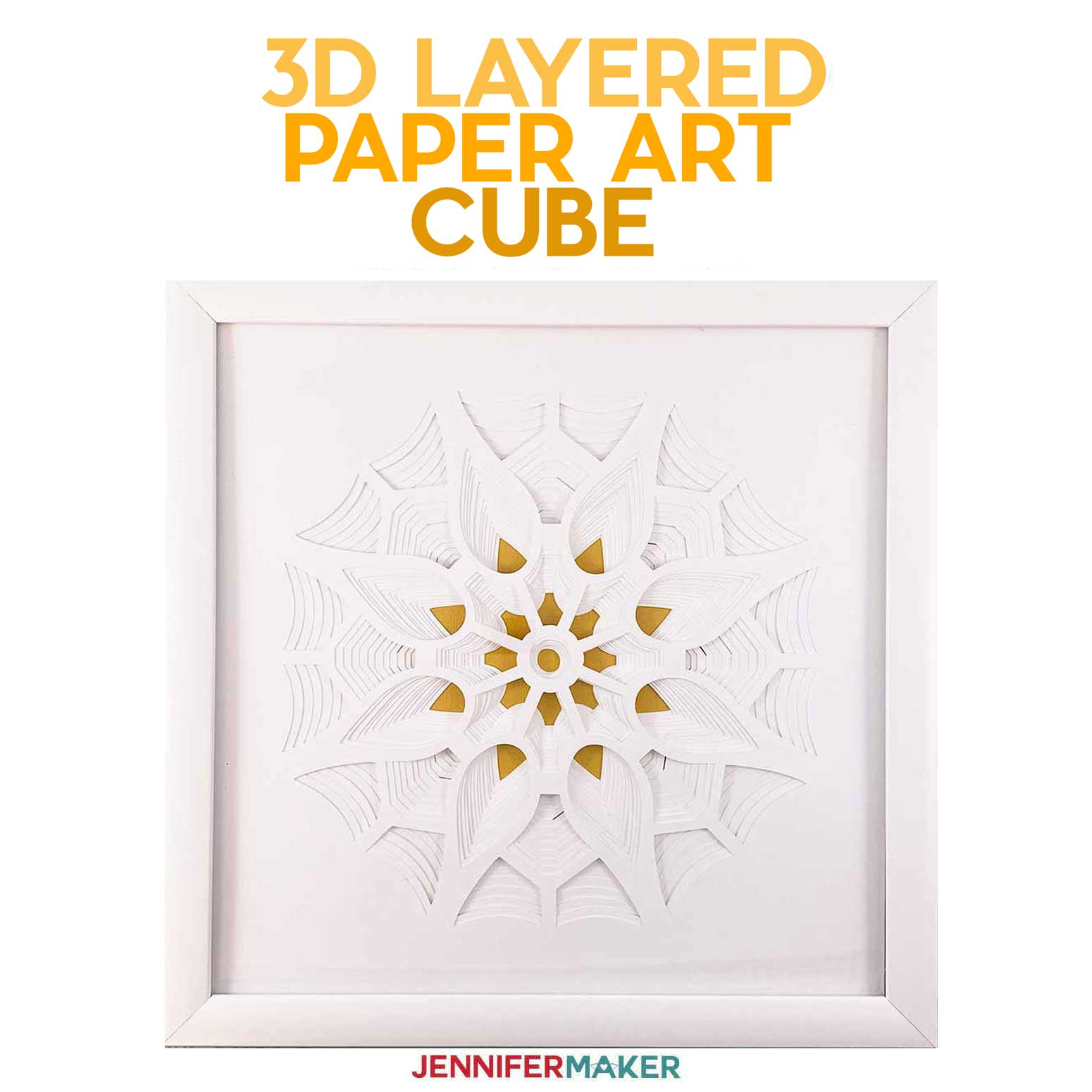 3D Layered Paper Art: The Cube (Series 3 of 4)