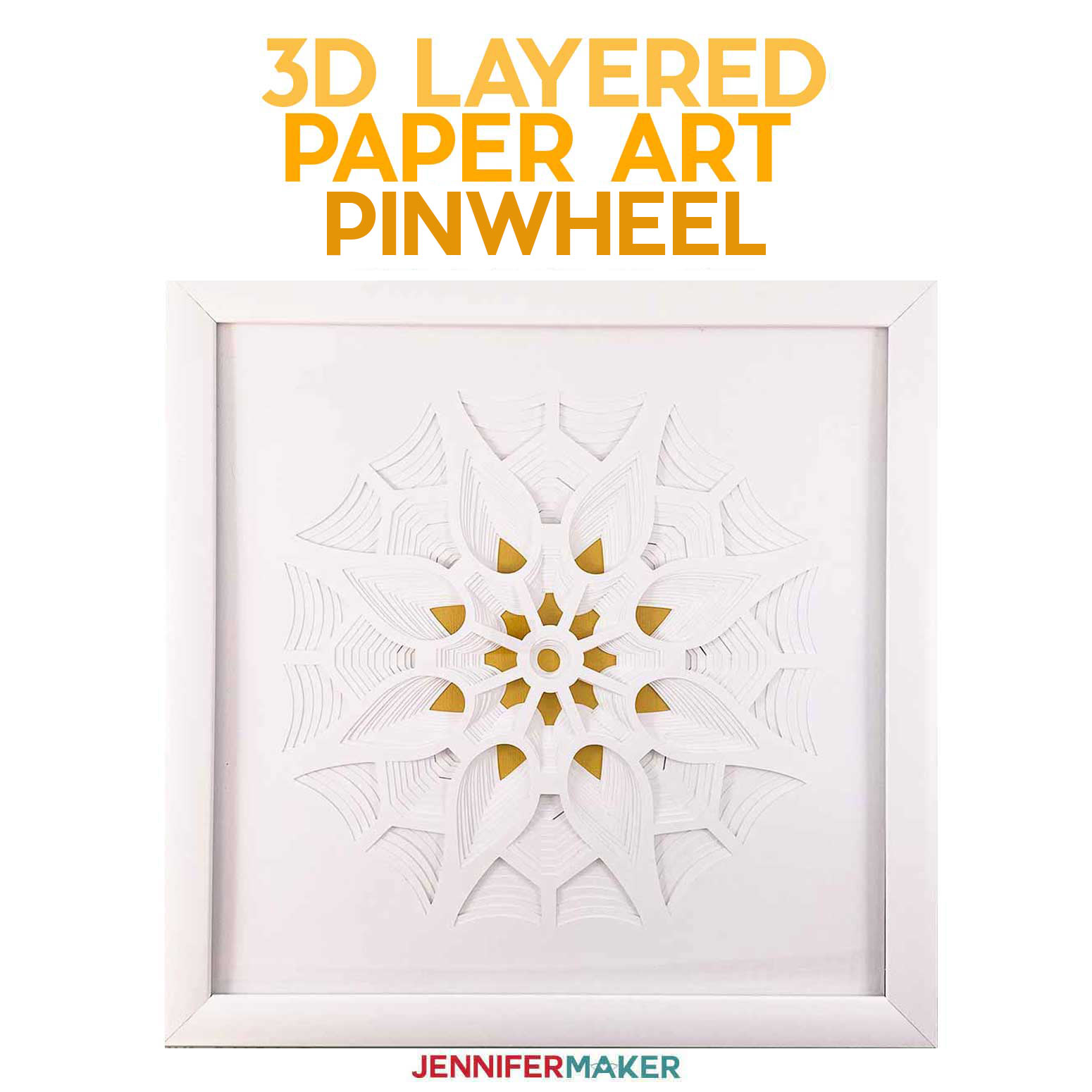 3D Layered Paper Art: The Pinwheel (Series 3 of 4)