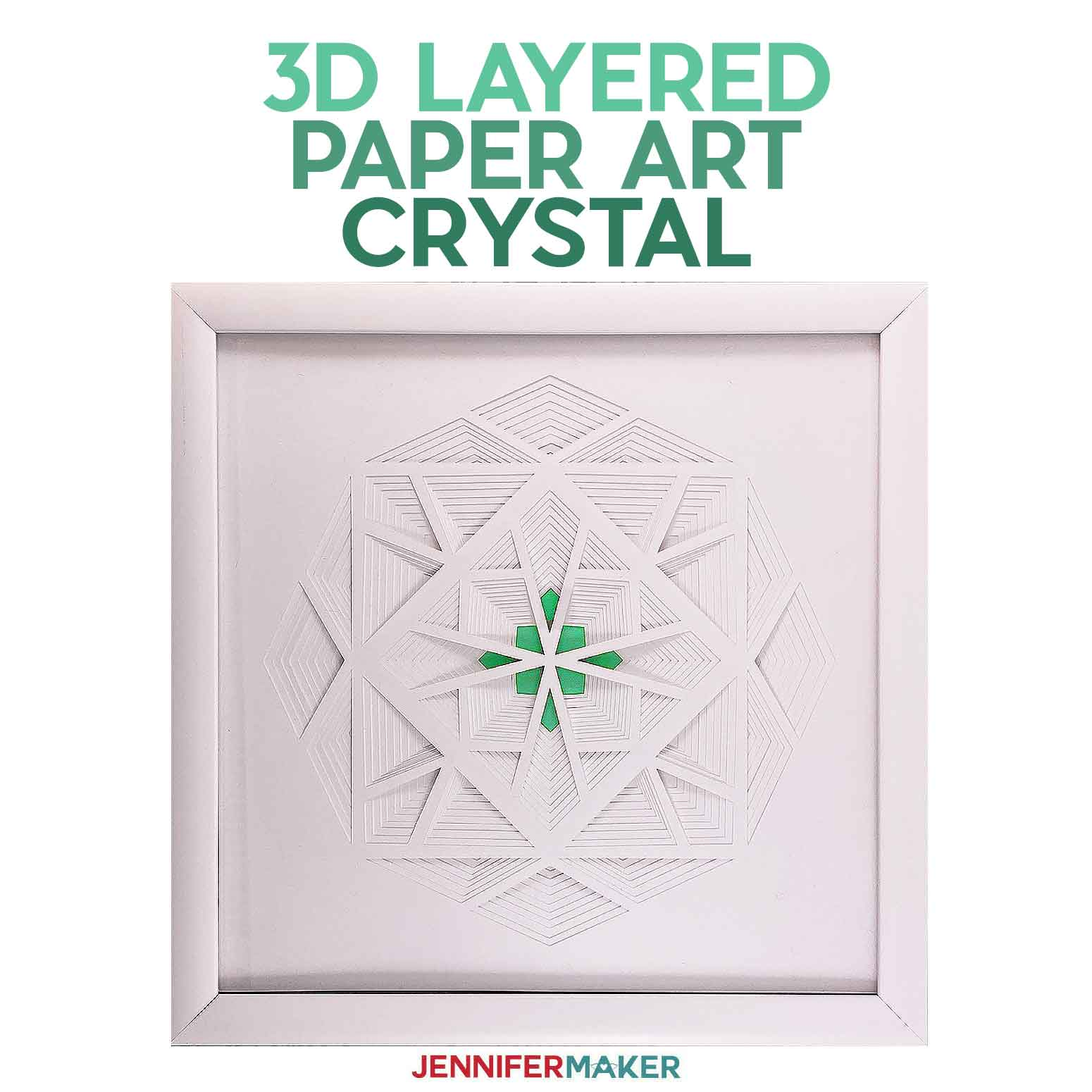 3D Layered Cut Art: The Crystal / Diamond (Series 2 of 4)