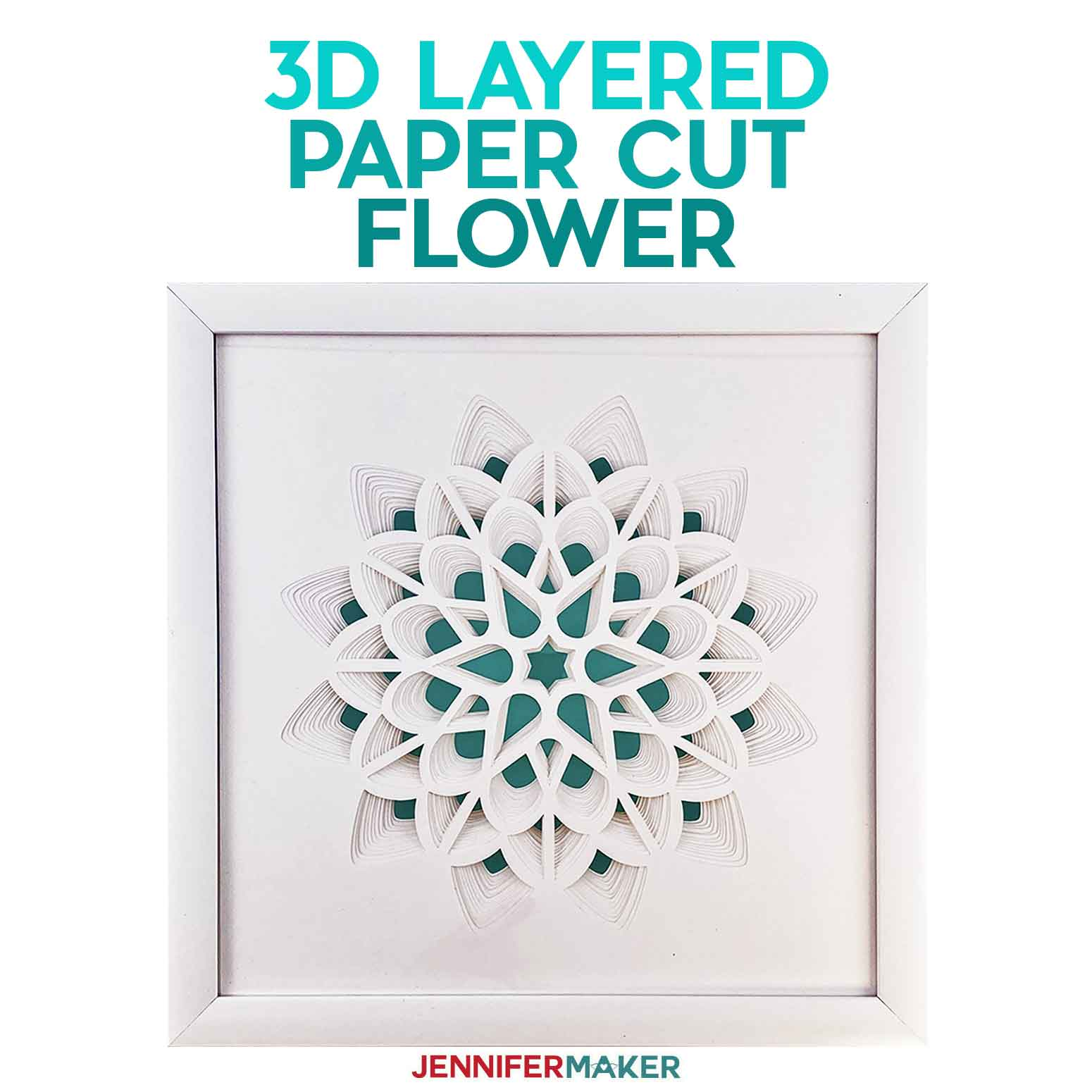 3D Layered Paper Cut Art: The Flower