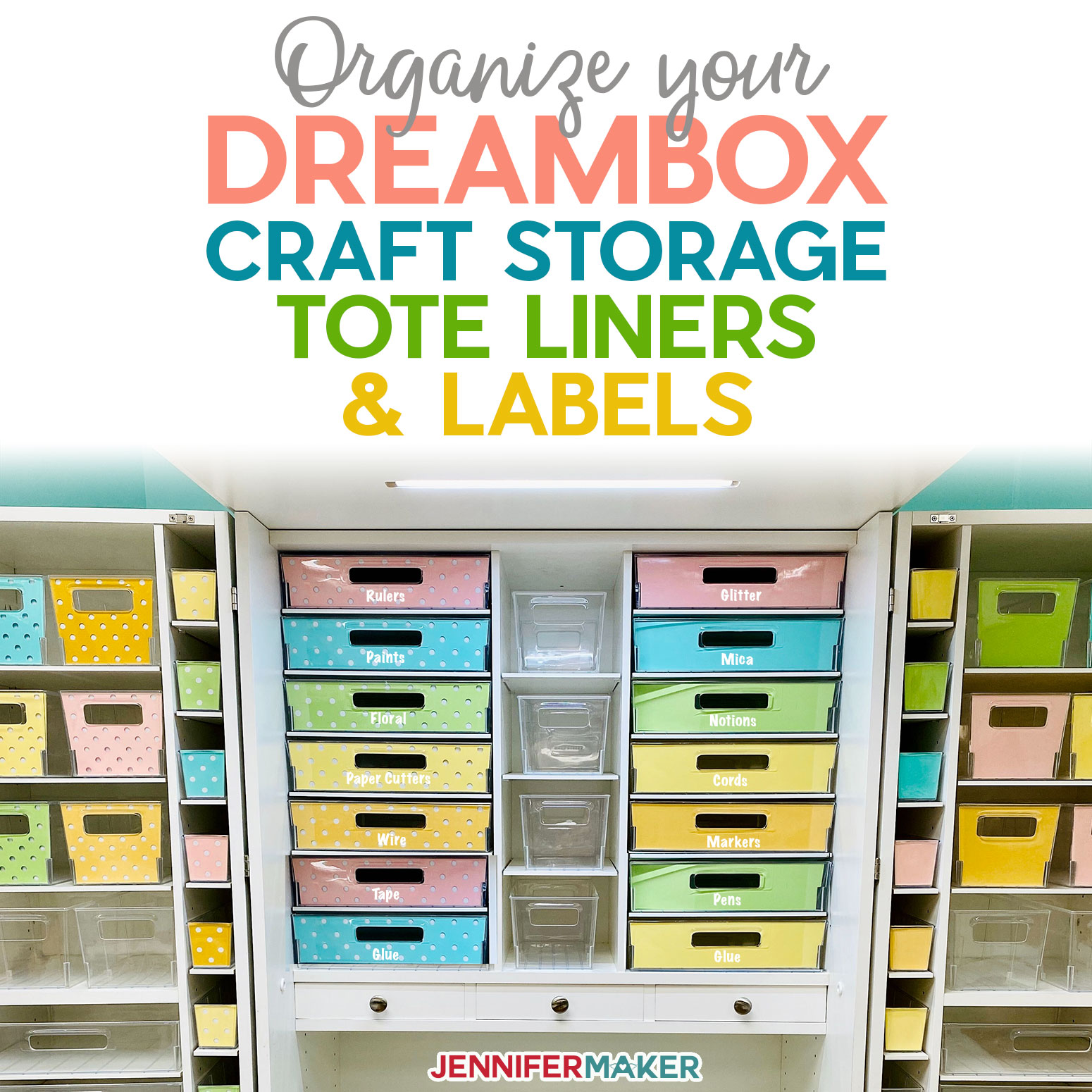 DreamBox Craft Storage Tote Liners & Labels