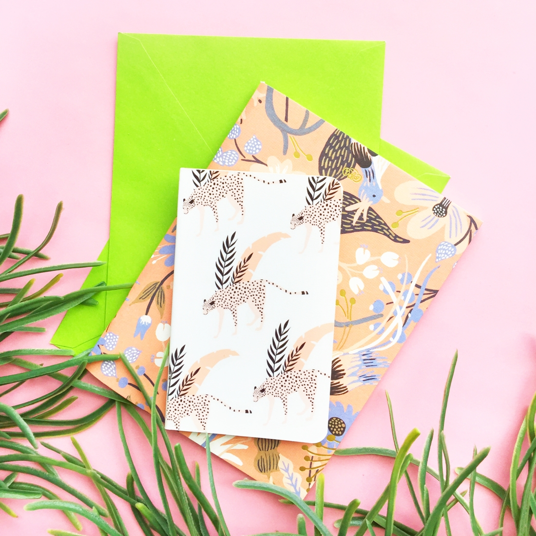 DIY Notebook Cover – Jungle Pattern