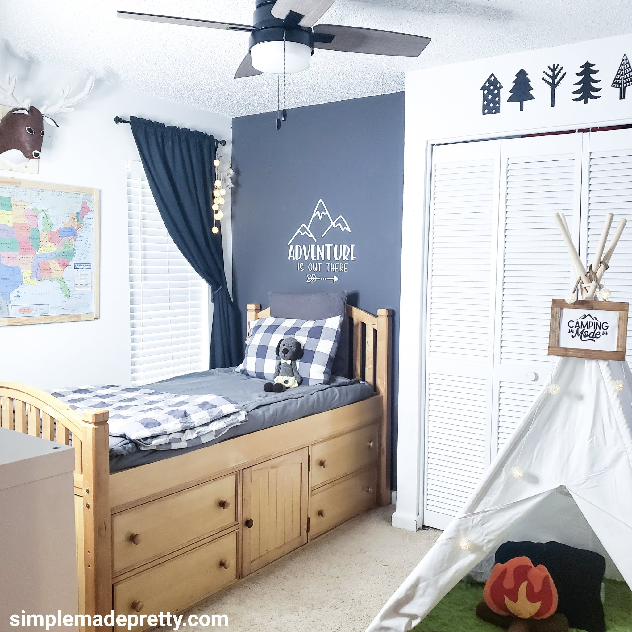 Boy's Bedroom Wilderness Theme