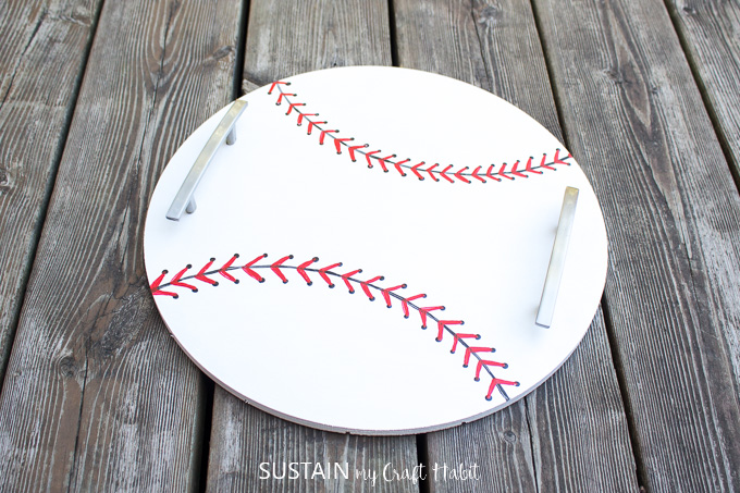 Baseball Crafts: DIY Serving Tray