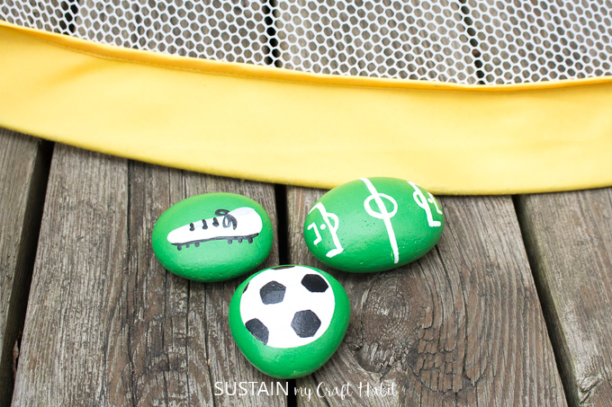 Painted Soccer Rocks