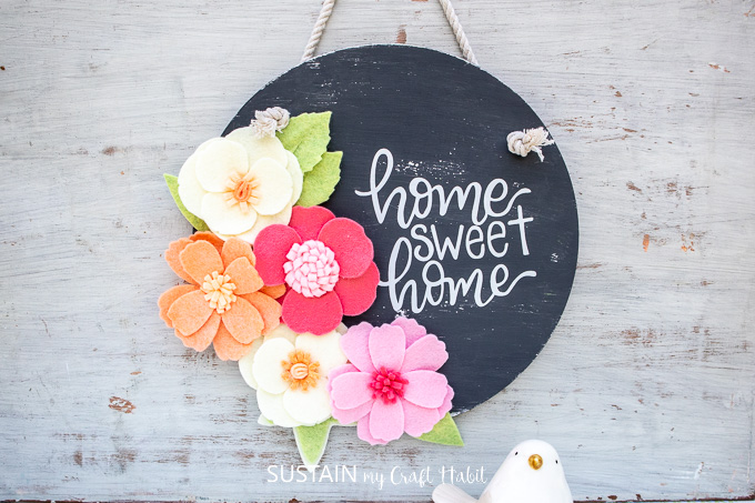 Beautiful Upcycled DIY Sign for Home (with free SVG)