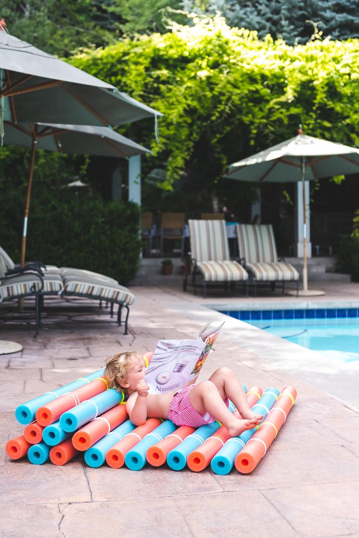 DIY pool noodle recliner