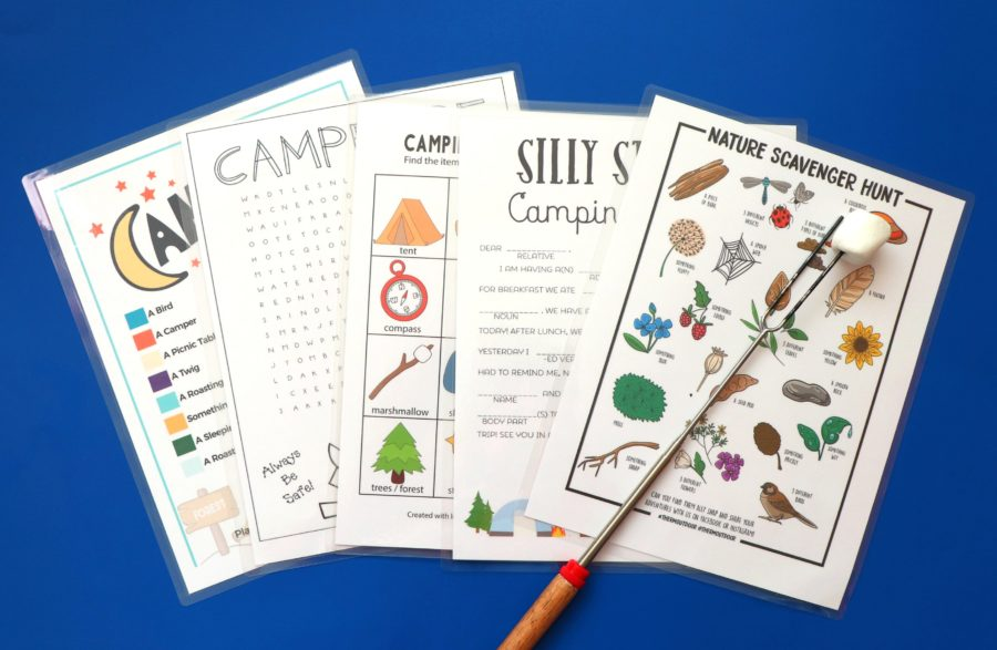 Camping printables for kids!
