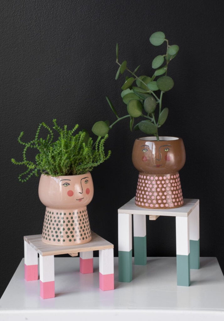 Painted Mini Plant Stands