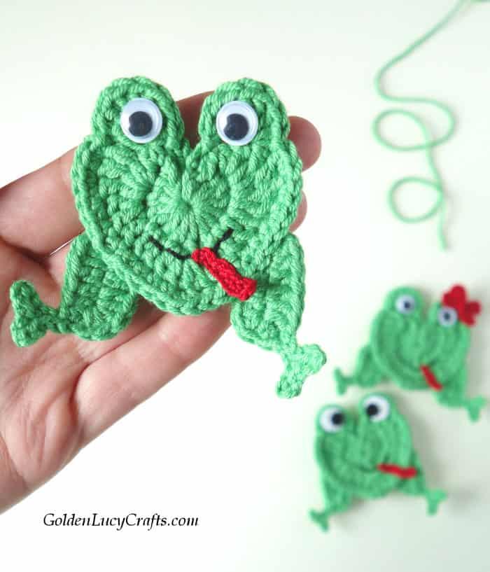Crochet Frog Applique