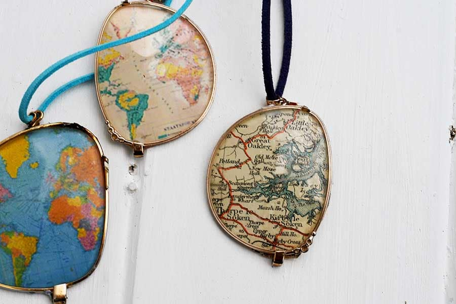 How To Make A World Map Necklace From Eyeglasses