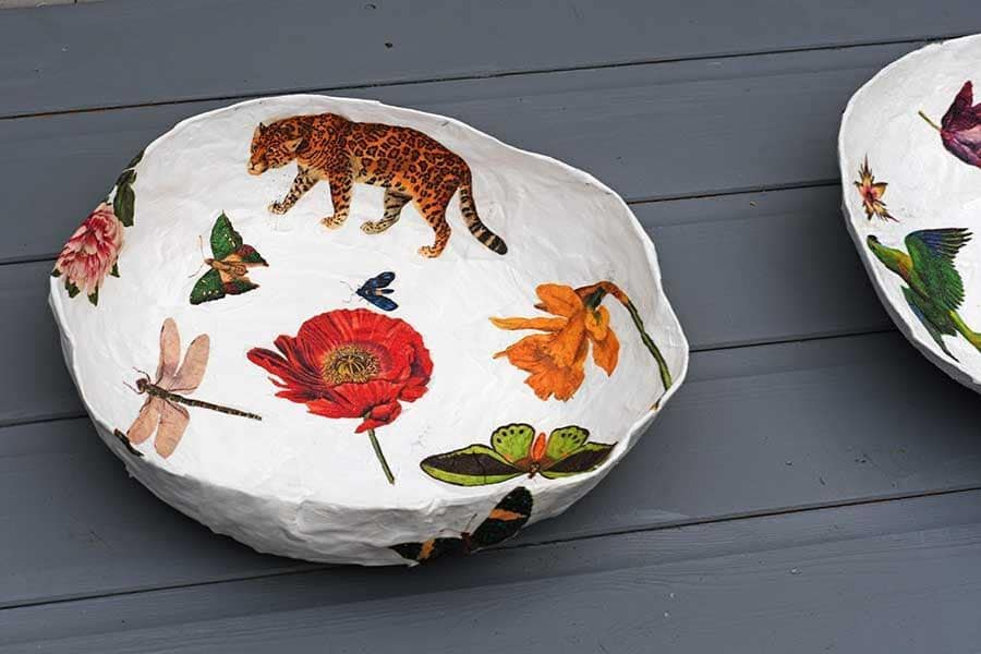 How To Make A Paper Mache Bowl With Decoupage