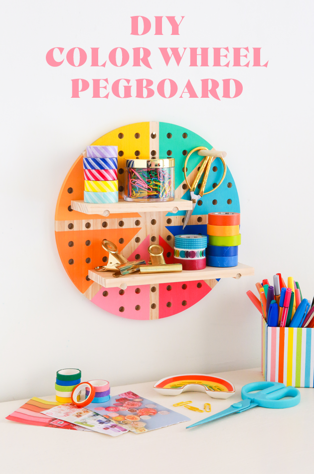 DIY Color Wheel Pegboard