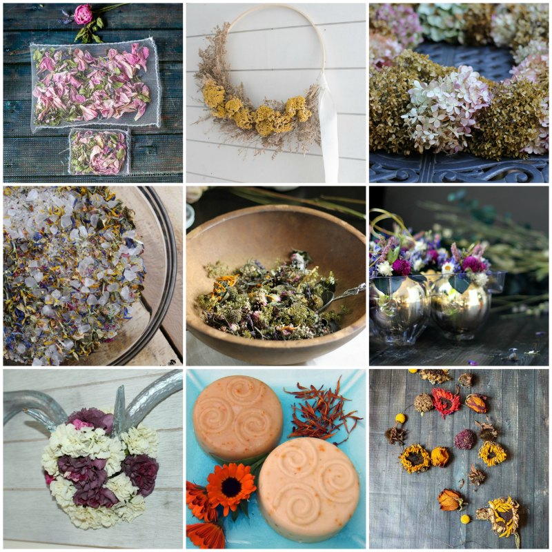 12 Beautiful Dried Flower Crafts and Ideas