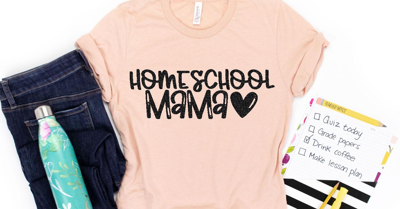 Free Homeschool Mama Cut File + Homeschool SVG Bundle