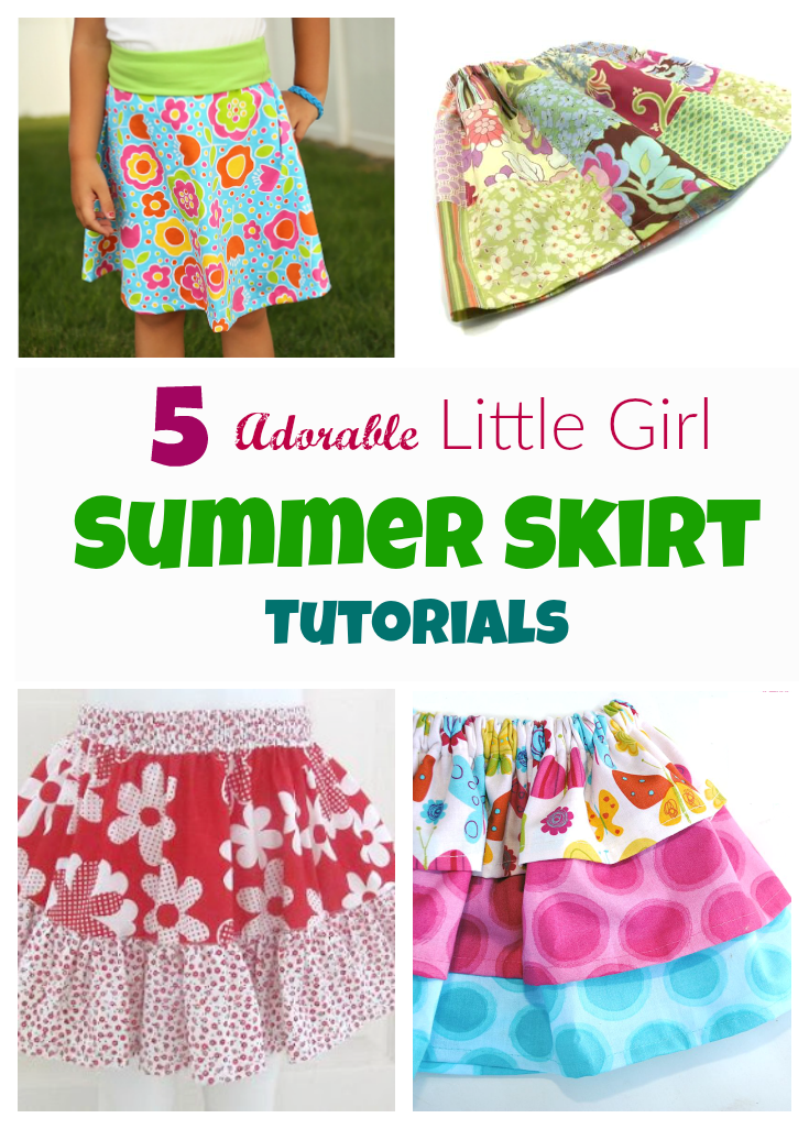 5 Adorable Little Girl Skirts To Sew Now