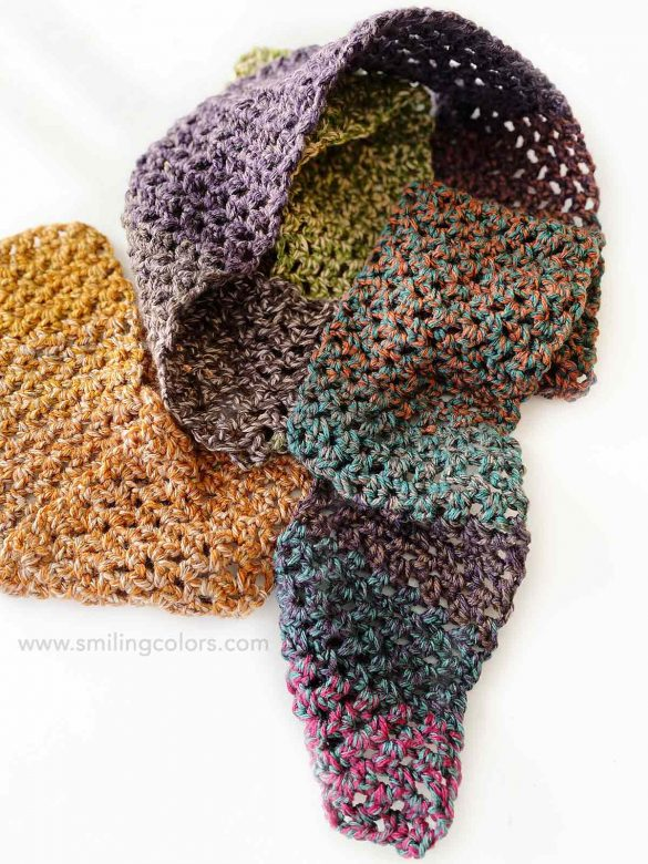 One skein Crochet Scarf that you can make in a weekend!