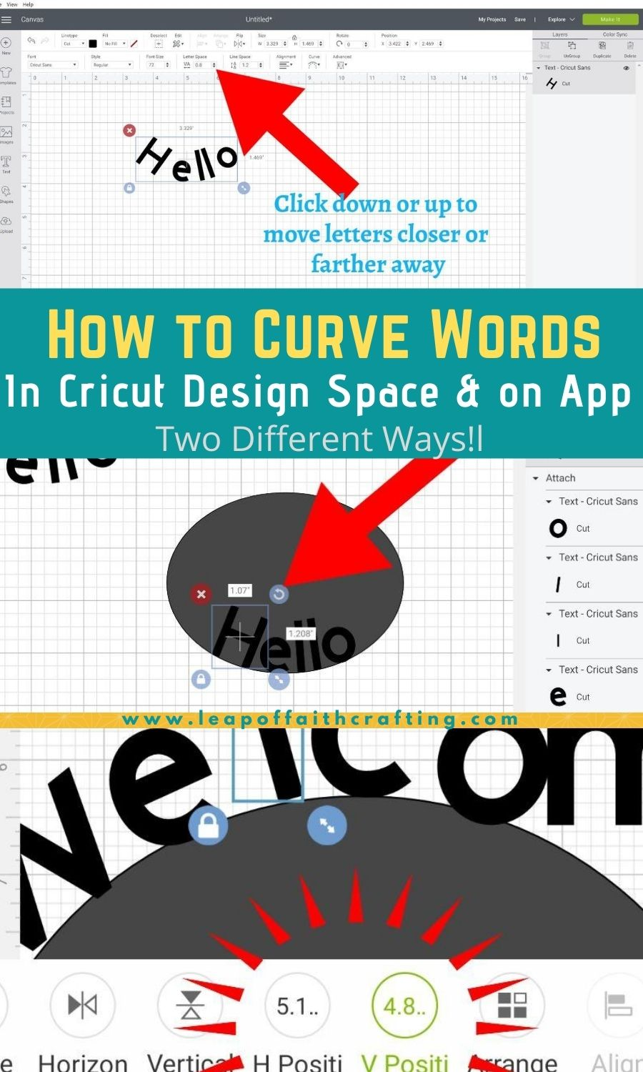 How to Curve Text in Cricut Design Space on PC and Ipad!