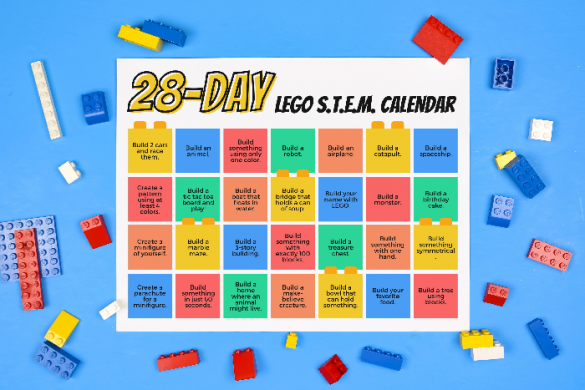 FREE PRINTABLE LEGO CHALLENGE CALENDAR