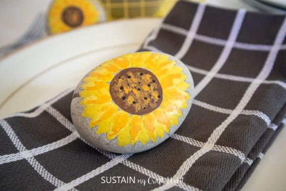 Sunflower Painted Rocks