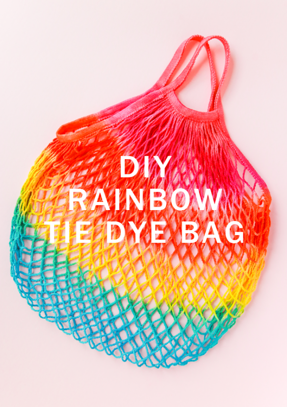DIY Rainbow Tie Dye Bag