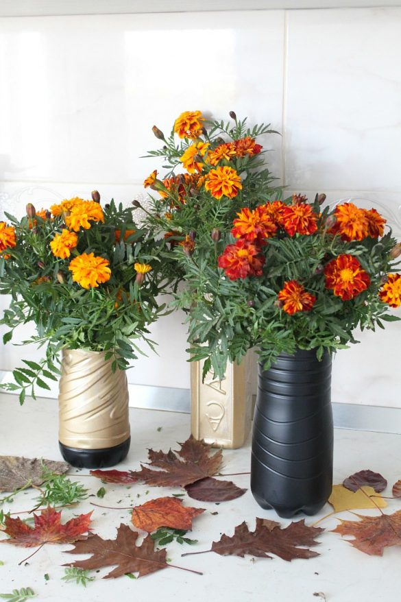 Gorgeous plastic bottle flower vase