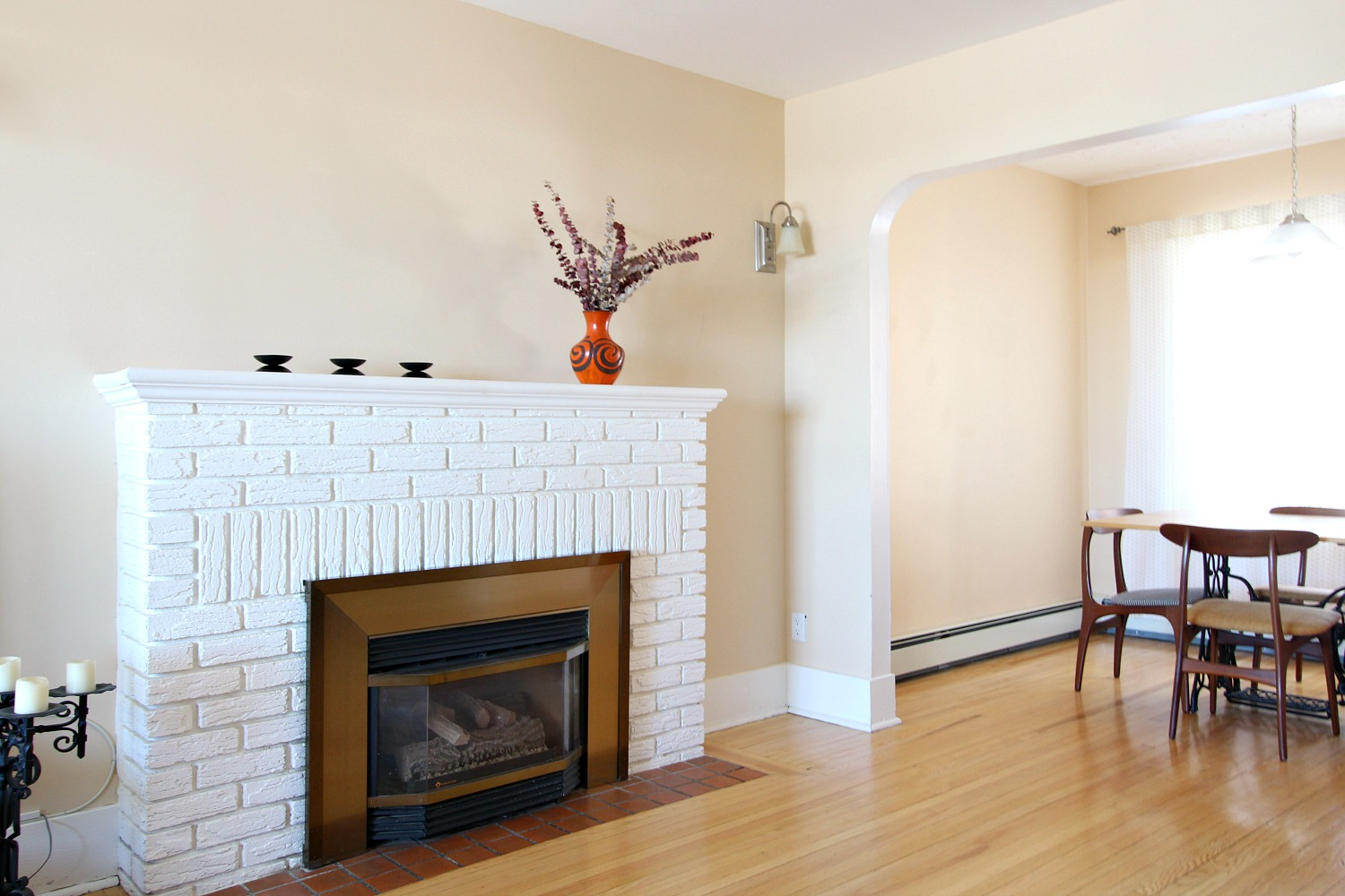 Blue Fireplace Makeover with Chalk Paint