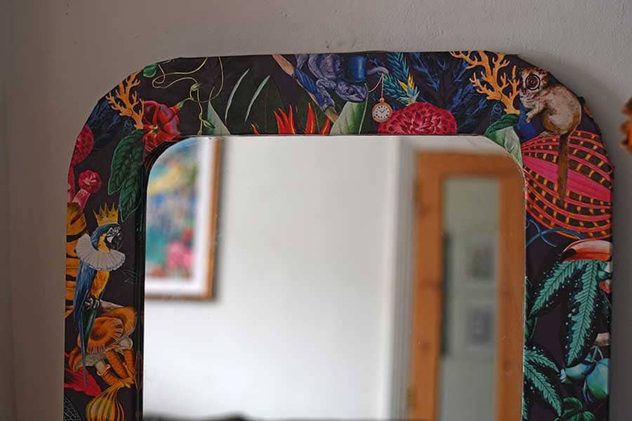 How To Wallpaper Furniture An IKEA Mirror Hack