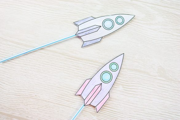 Straw Rockets: Make Your Own with a Free Printable
