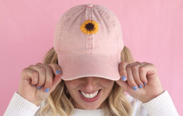 How to Make Embroidered Floral Baseball Hats