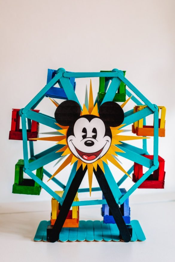 How To Make A Popsicle Stick Ferris Wheel (+ A Pixar Pal-A-Round Version!)