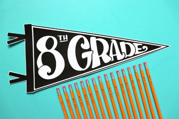 First day back to school grade signs