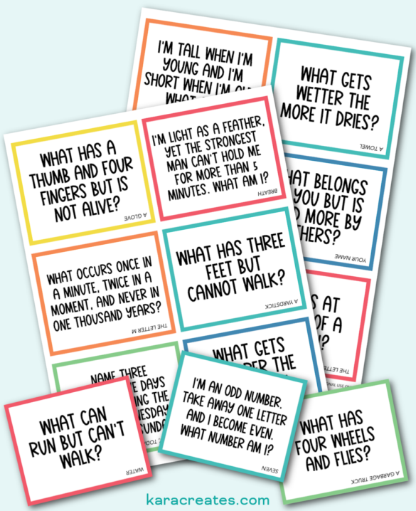 Riddle Lunchbox Notes {Free Printable}