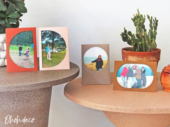DIY picture frames with paper