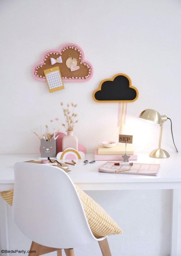 Kids Boho Study Desk DIY Décor