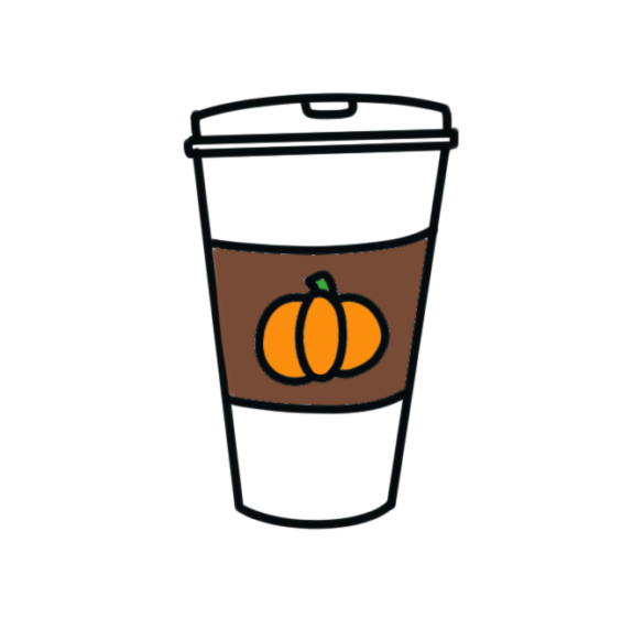 How to Draw a Pumpkin Spice Latte + Free Printable
