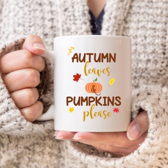 Autumn Leaves and Pumpkins Please SVG Free File Plus More!