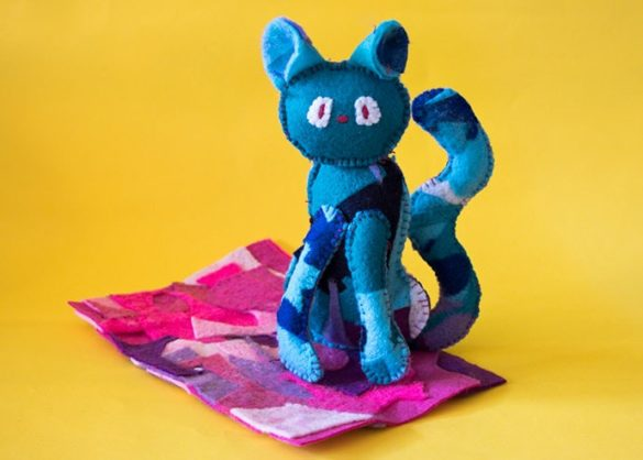 Patchwork Felt Cat Sewing Pattern