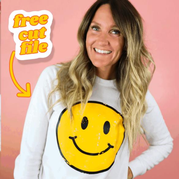 Smiley Face SVG Cut File