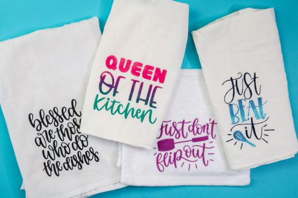 Cricut Tea Towels: 4 Ways to Make Fabric Projects